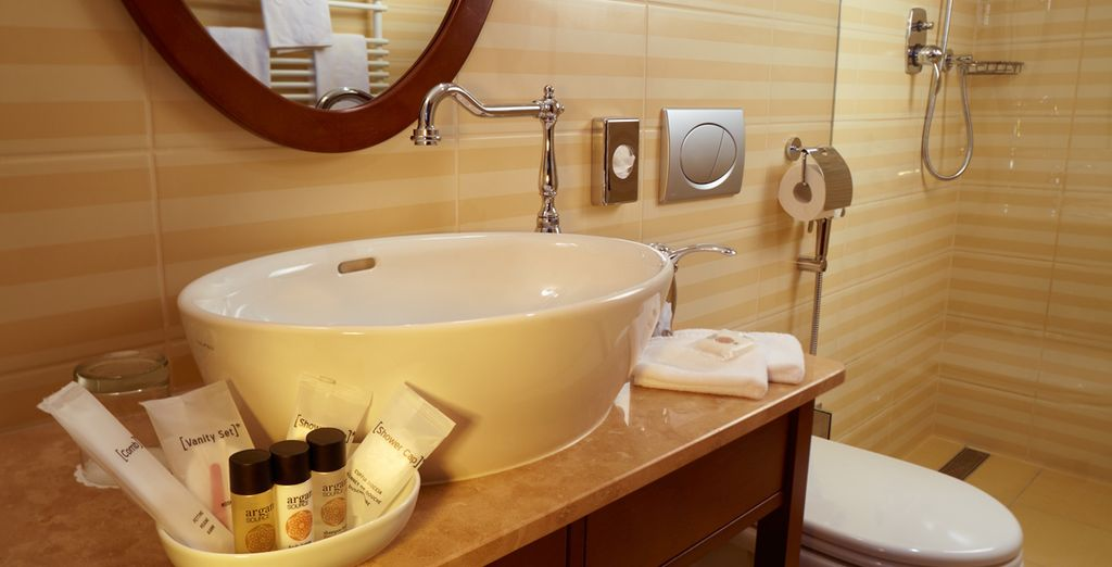 Complete with a modern ensuite bathroom and luxury amenities