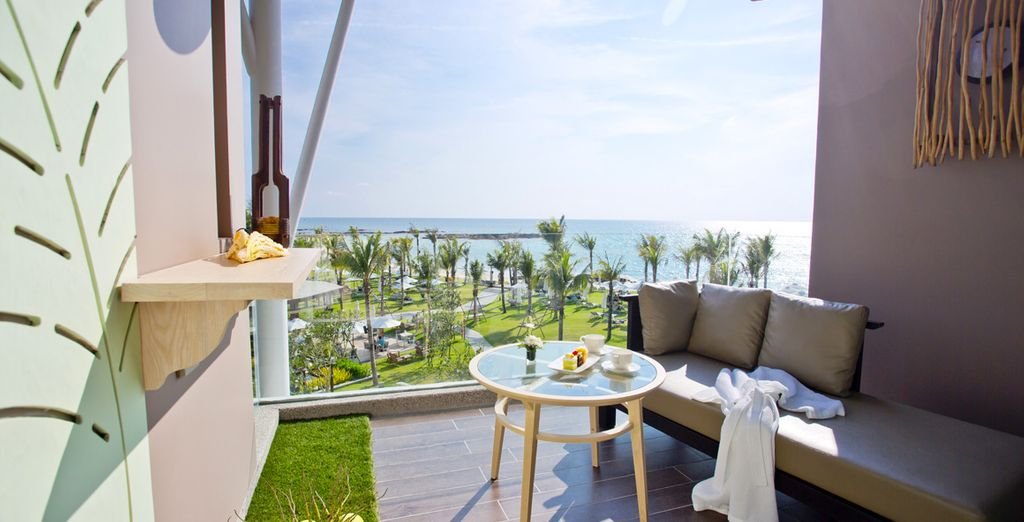 Languish on your balcony with the sounds of the oceans to soothe you