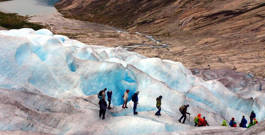An optional excursion to the Fjaerland Glacier...