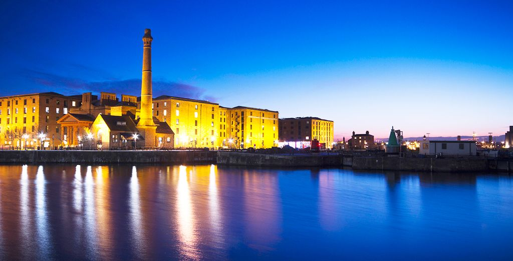 Dicover the vibrant scene of Liverpool's docklands