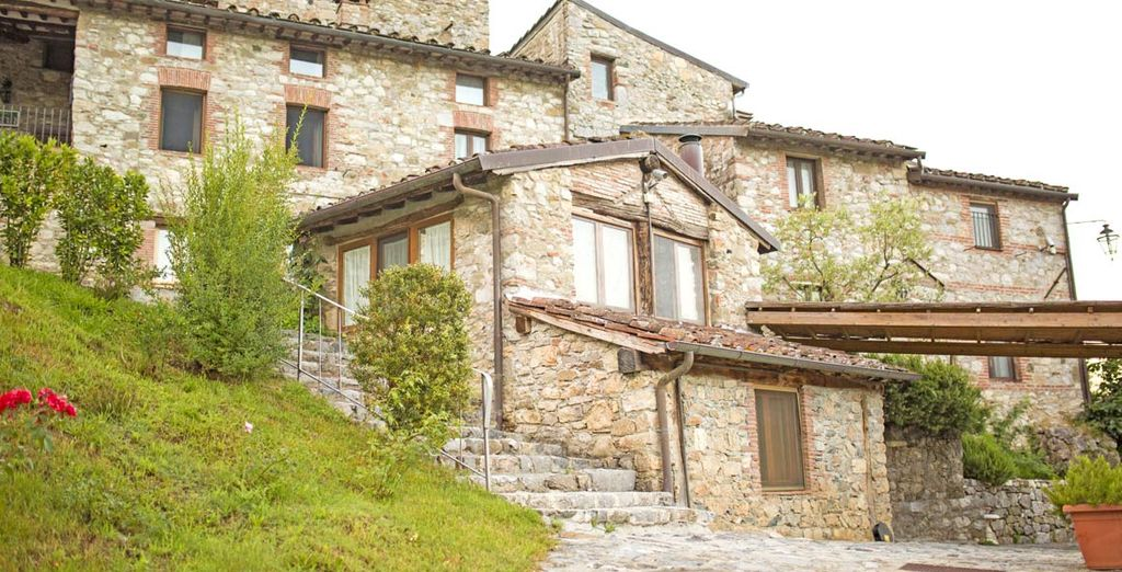 Housed in quintessential 17th-century village, perched on one of the many hills of Tuscany