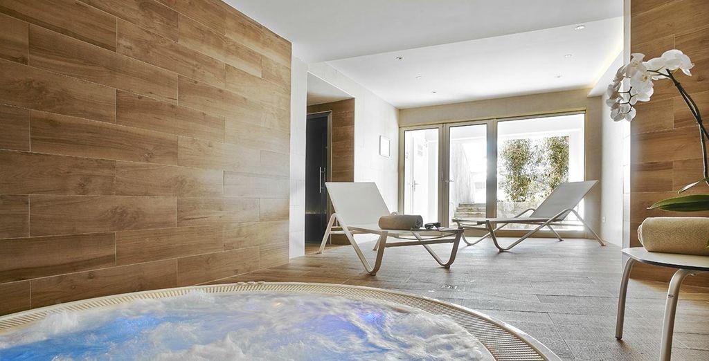 A modern spa hotel