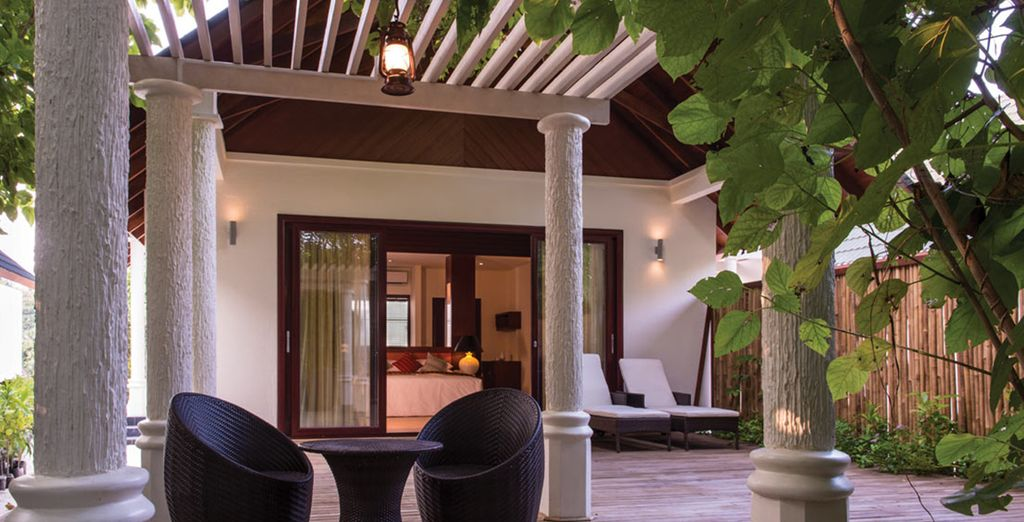 So relax on your terrace...