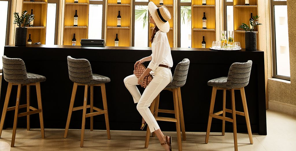 Relax in their bar for a quiet glass of wine