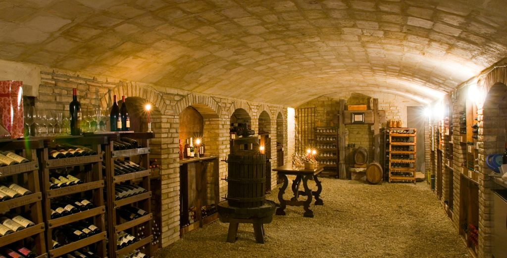 Head to the wine cellar and taste the rich Italian flavours