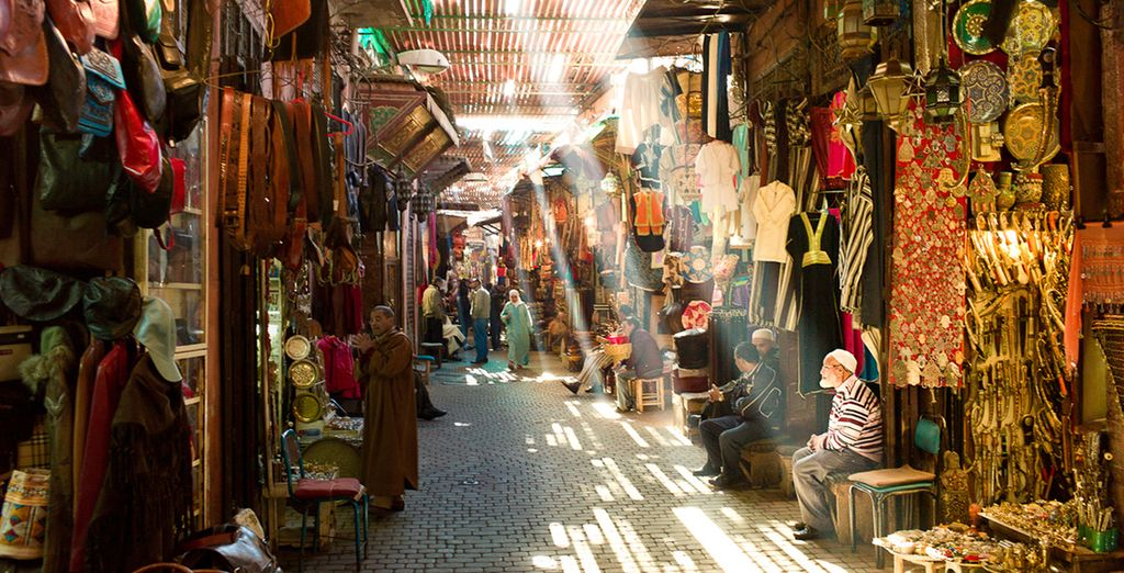 Delve into the bustling souks of this city