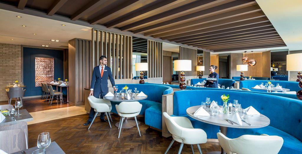 And sample fine British cuisine in the Napa Restaurant