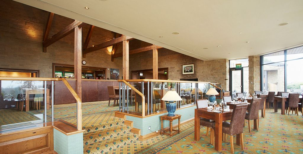 ...the simple but tempting Lodge Brasserie Restaurant...