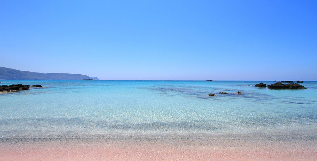 Or wander down to the quiet beach