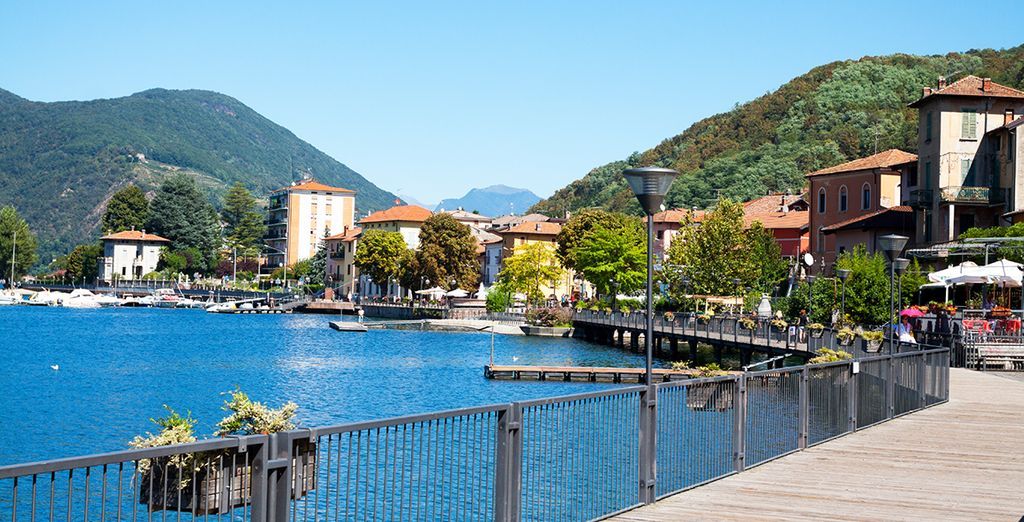 You have to visit the lively Porto Ceresio on Lake Lugano - just 15 minutes away!