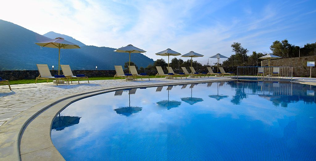 Or stay by the pool and soak up the peaceful atmosphere and stunning views
