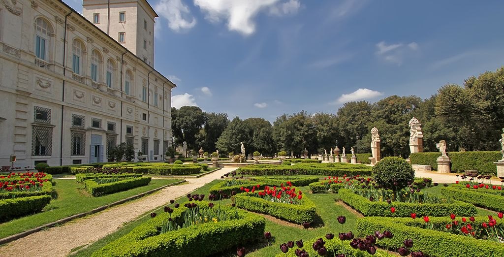Your hotel is right opposite the Villa Borghese