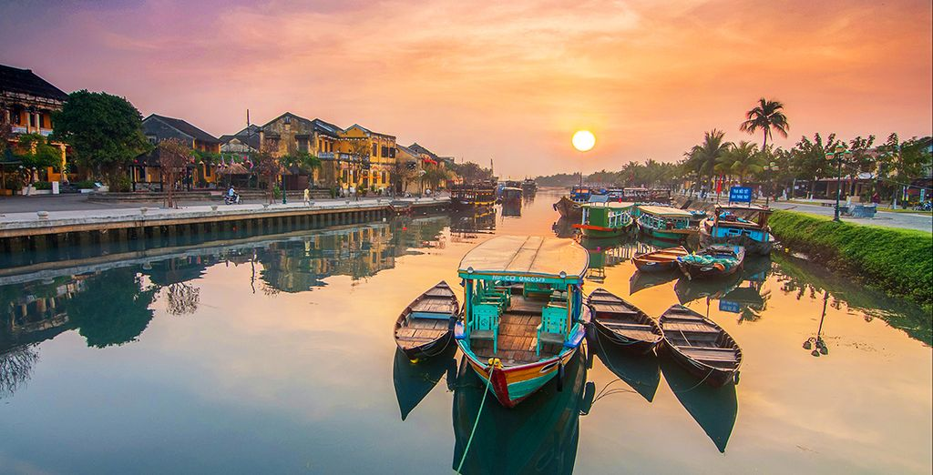The pretty riverside town of Hoi An