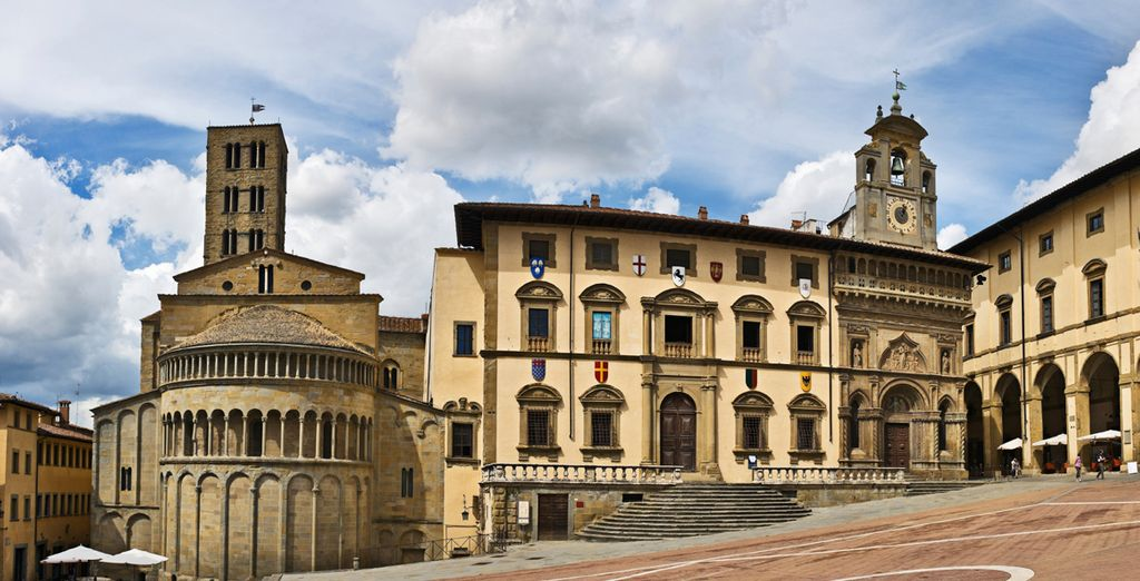 Explore the city of Arezzo, home to medieval piazzas