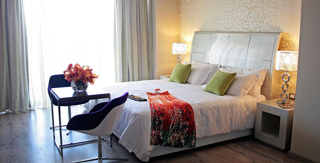 Choose between a Deluxe Side Sea View Room...