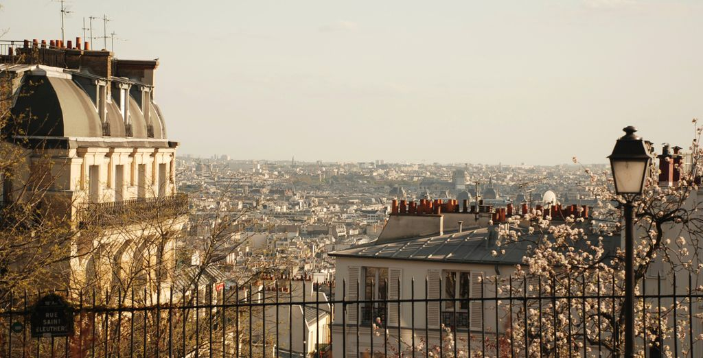 Take in the views from Montmartre