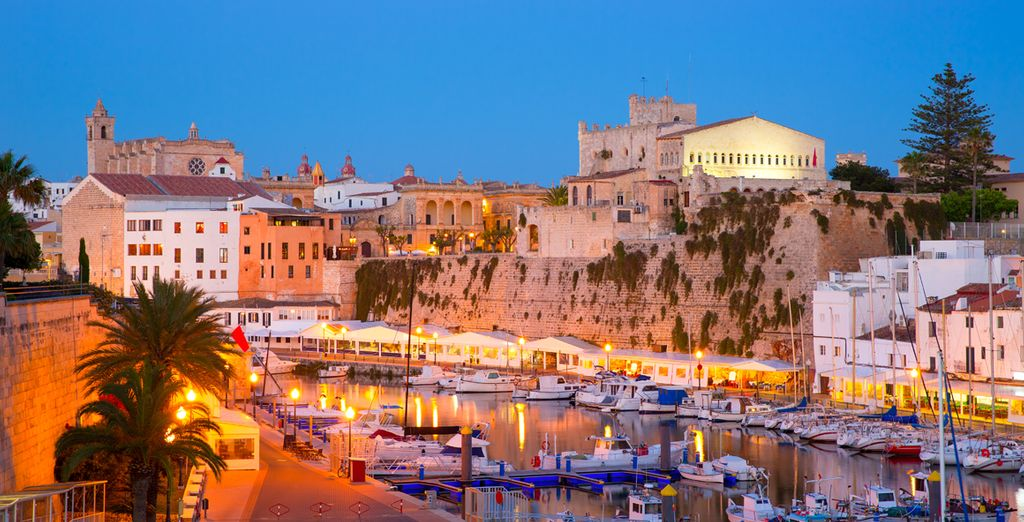 The old town of Ciutadella in Menorca