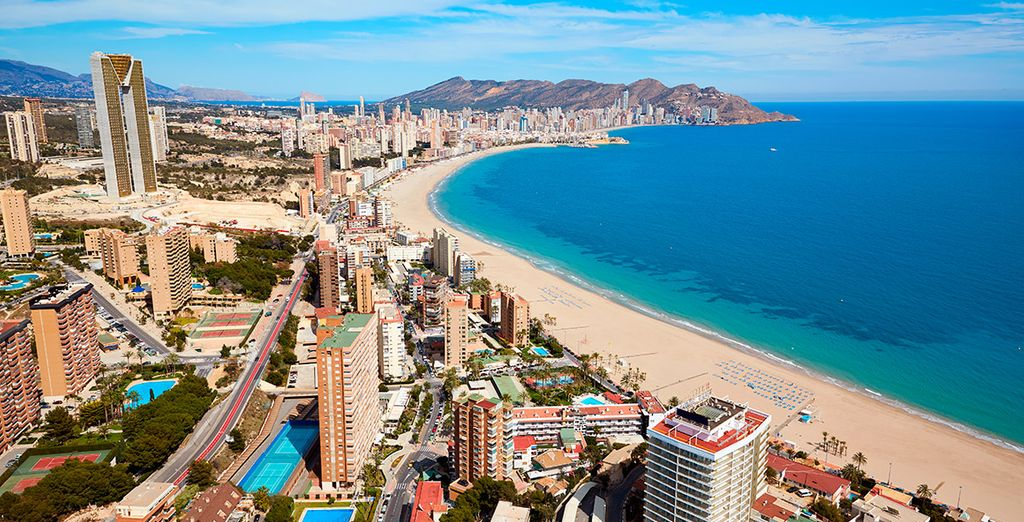 Benidorm on the Costa Blanca, Spain