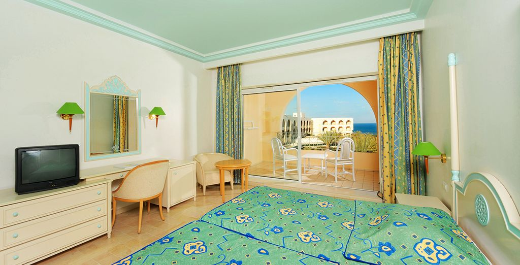 Stay at the Iberostar Averroes in a Double Sea View Room