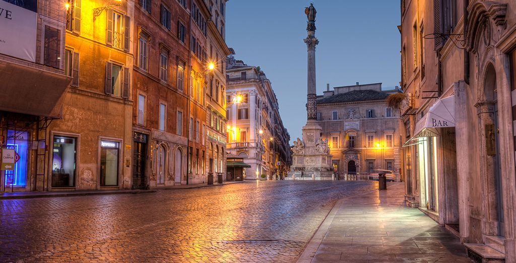 Wander the enchanting streets of Rome