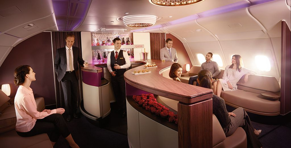 And if you upgrade to business class the trip will be even more luxurious!