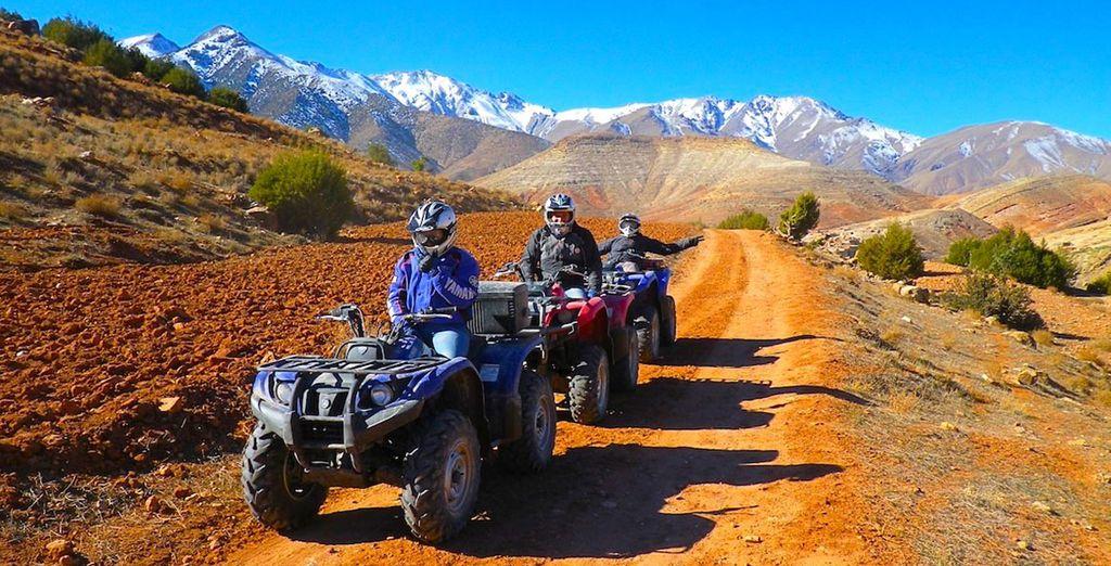 Such as quad biking in the Agafay desert