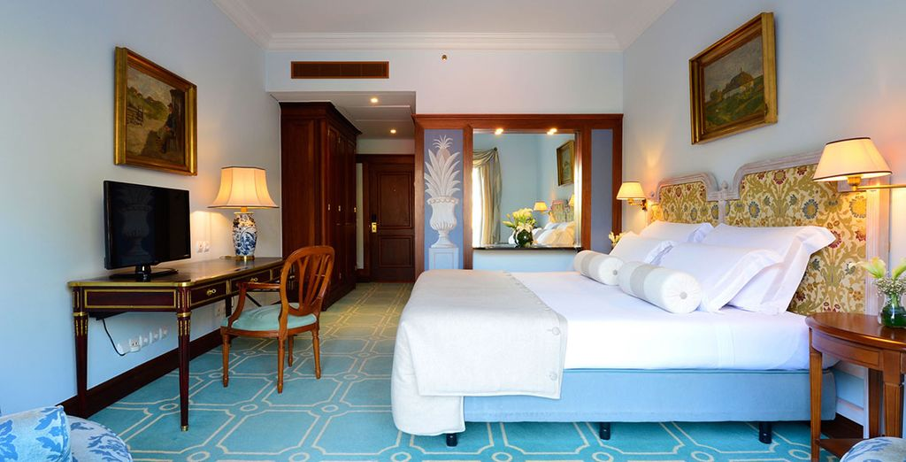 Then head to your Garden View Room