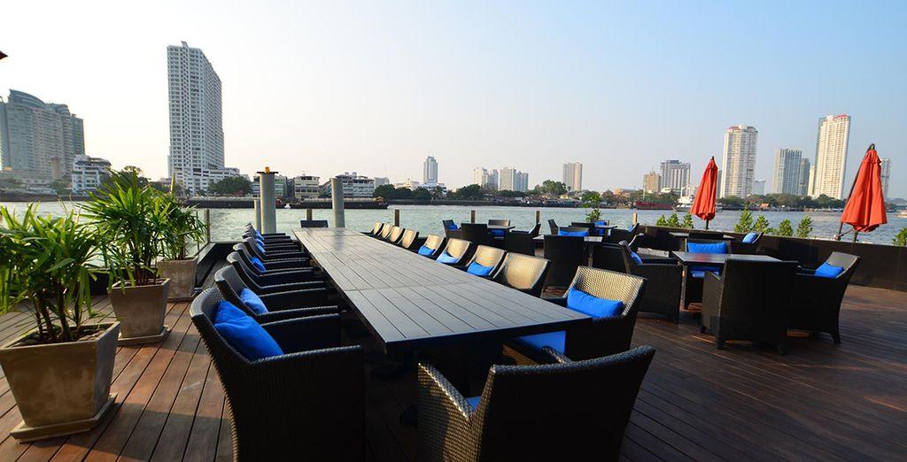 Right next to the Chao Phraya river