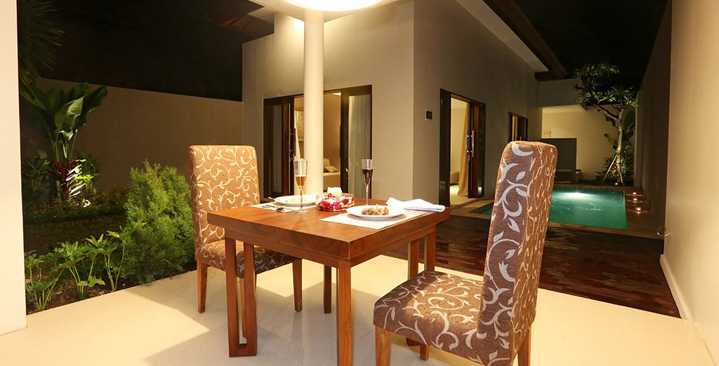 Or treat yourself to private dining in your villa