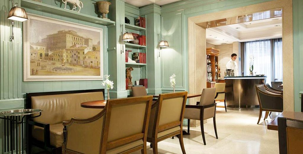 Enter this sophisticated hotel