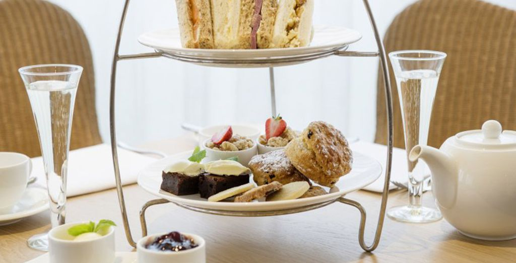 Then indulge in a delicious traditional cream tea!
