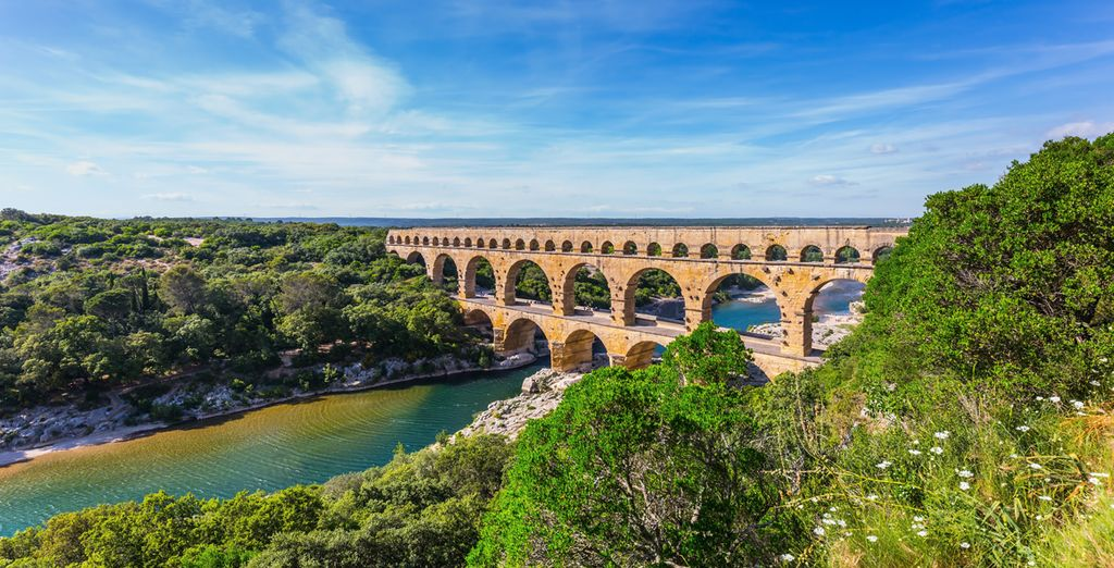 To impressive sights such as Pont du Gard
