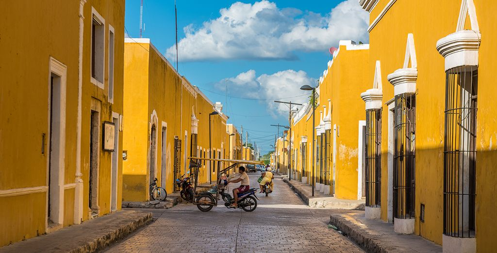 And Izamal, the yellow colonial city