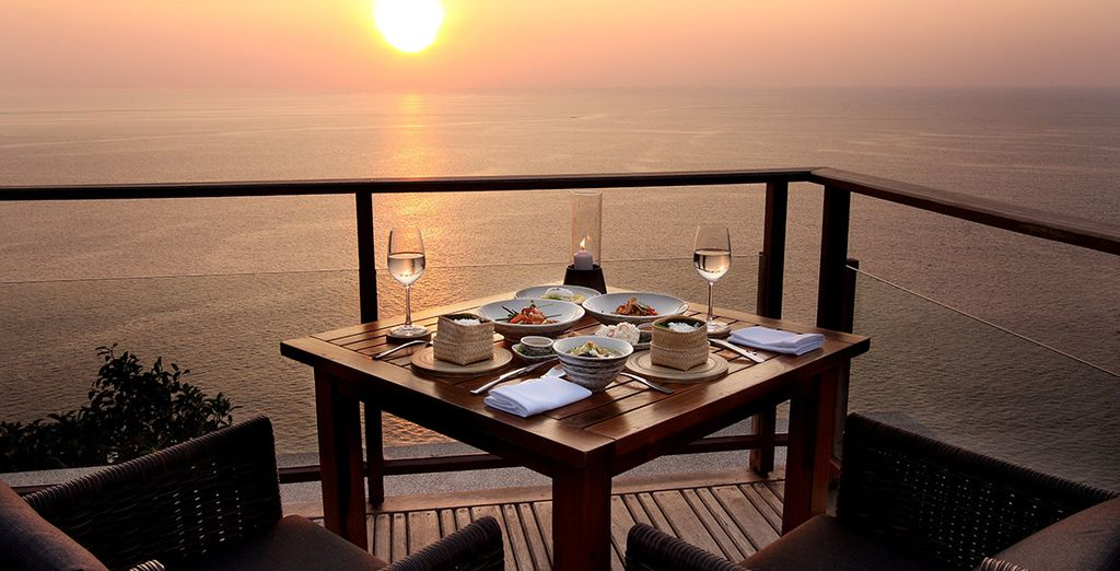 Enjoy meals with a view