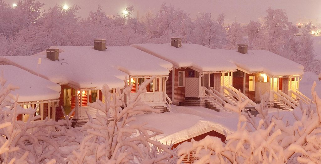 Before returning to your cosy cabin wrapped in snow