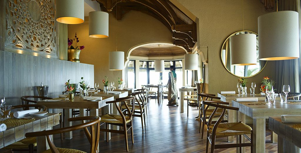 Chic restaurants of world cuisine