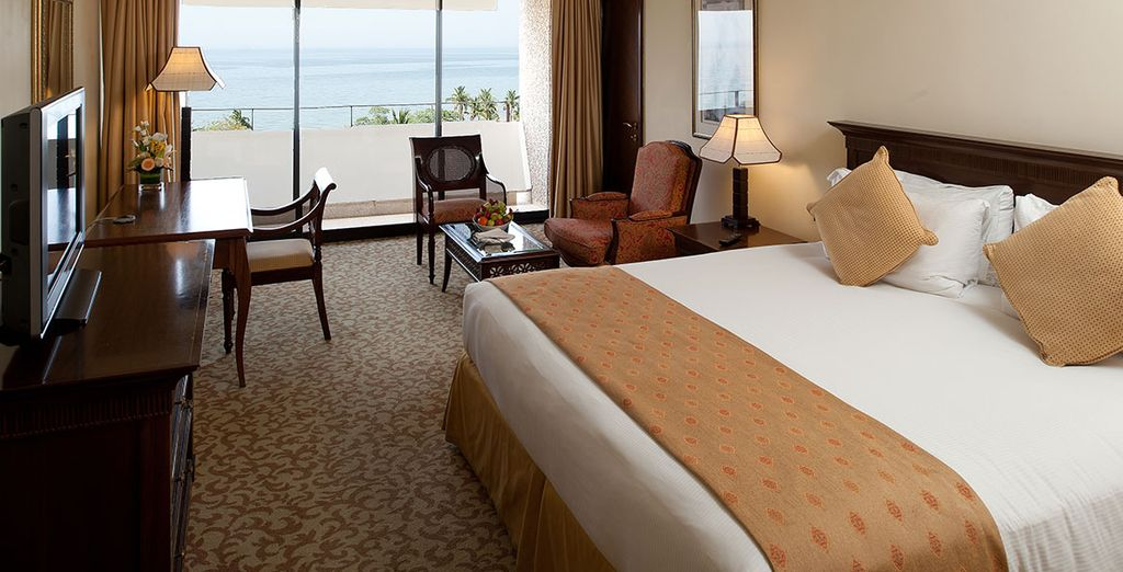 Enjoy fabulous views from your comfortable room
