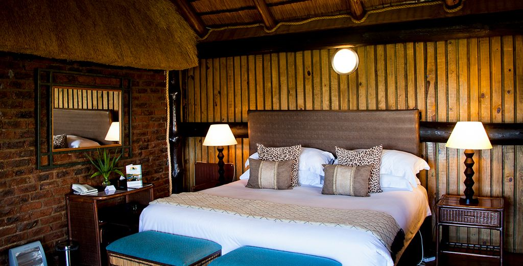 Your room features modern comforts....