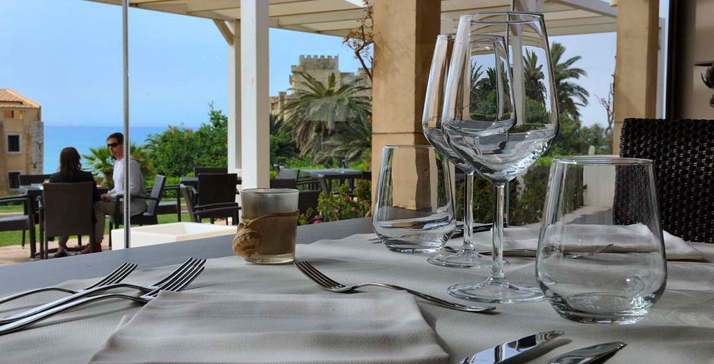 The restaurant serves regional specialities accompanies by delicious local wines..