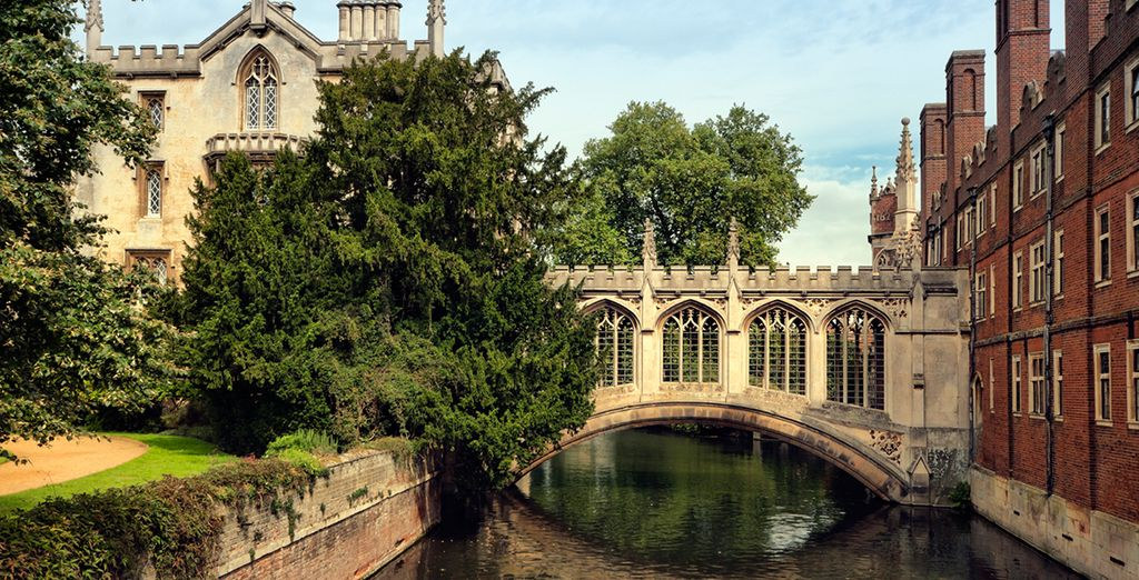 You're also just 45 minutes from the Gothic charm of Cambridge