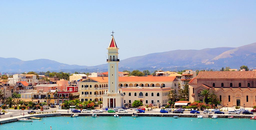 Take a trip to historic Zakynthos town...