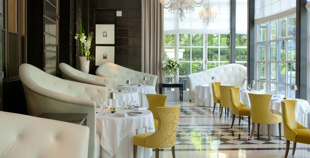Enjoy fine dining in a 2-Michelin star restaurant