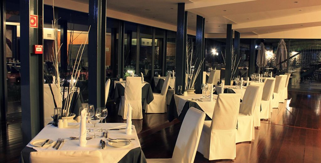 Come evening, dine in atmospheric surroundings