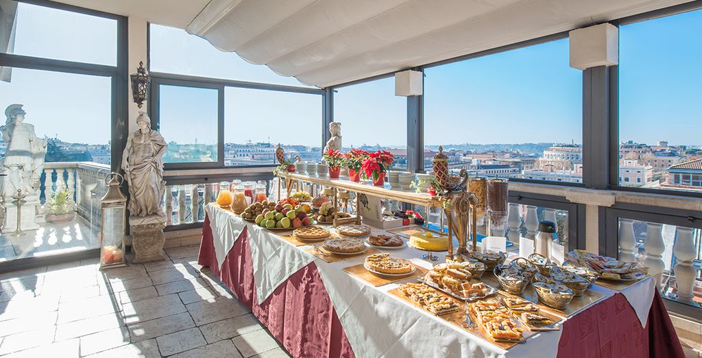 Enjoy breakfast with a view...