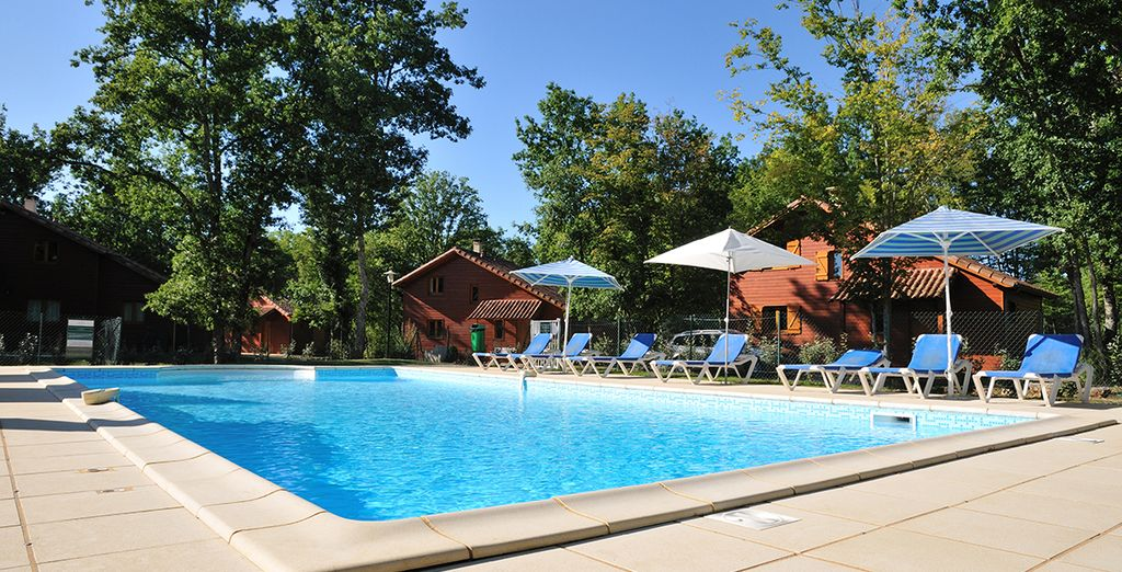 With a wonderful shared pool to enjoy