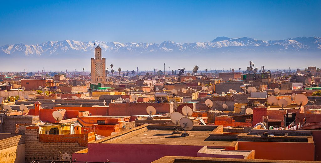 At the foot of the mystical Atlas Mountains