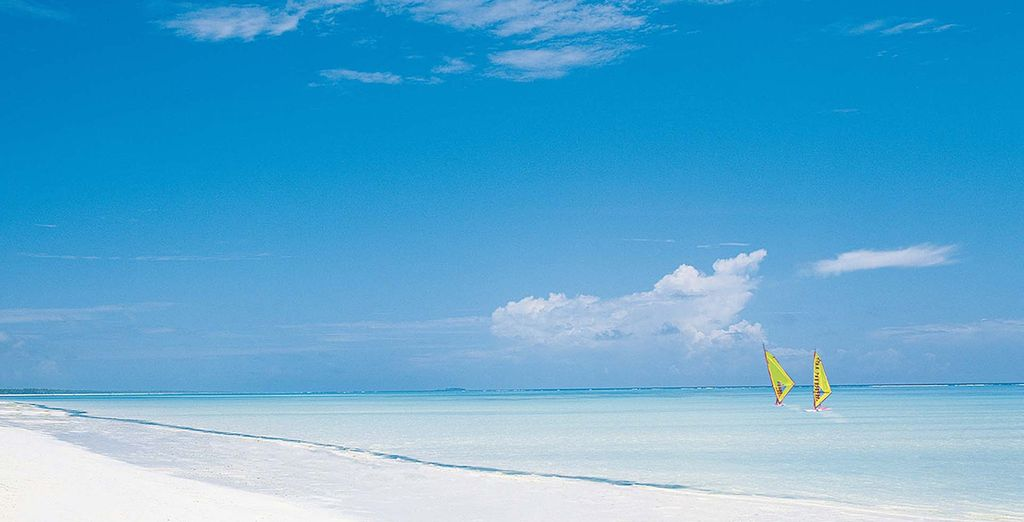 Spend your time relaxing on the stunning white sand beaches...