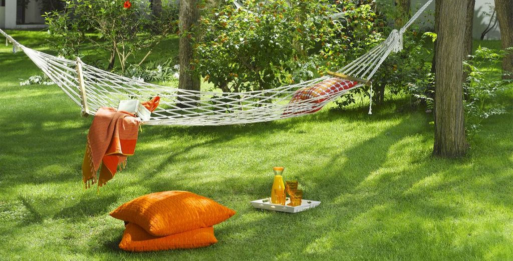 Or you may prefer to just chill out in the grounds, soaking up the sun...
