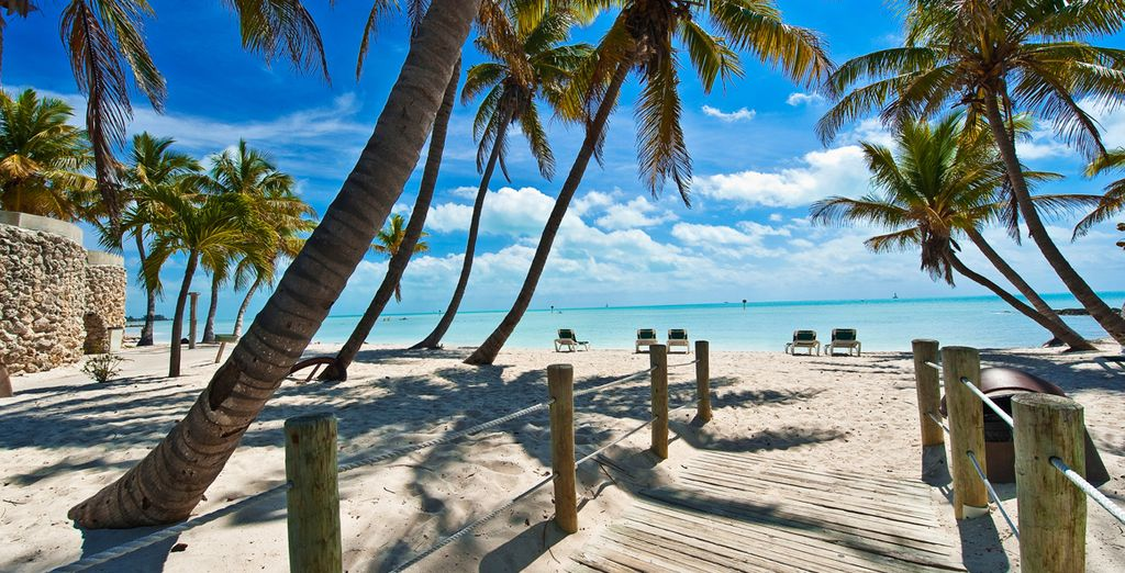 And digging your toes into powdery, white sands (pictured: Key West, Florida)