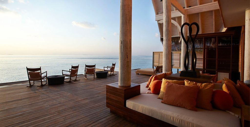 Then chill out on the relaxation deck